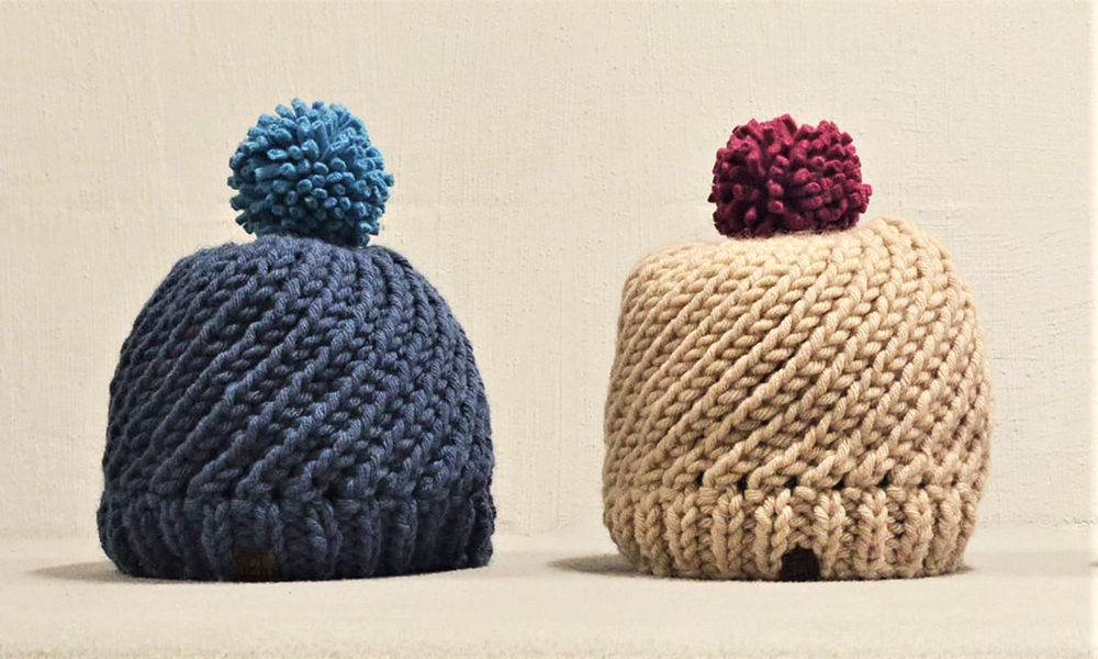 MAKE AT HOME WORKSHOP KIT: Swirl Hat Knit Kit