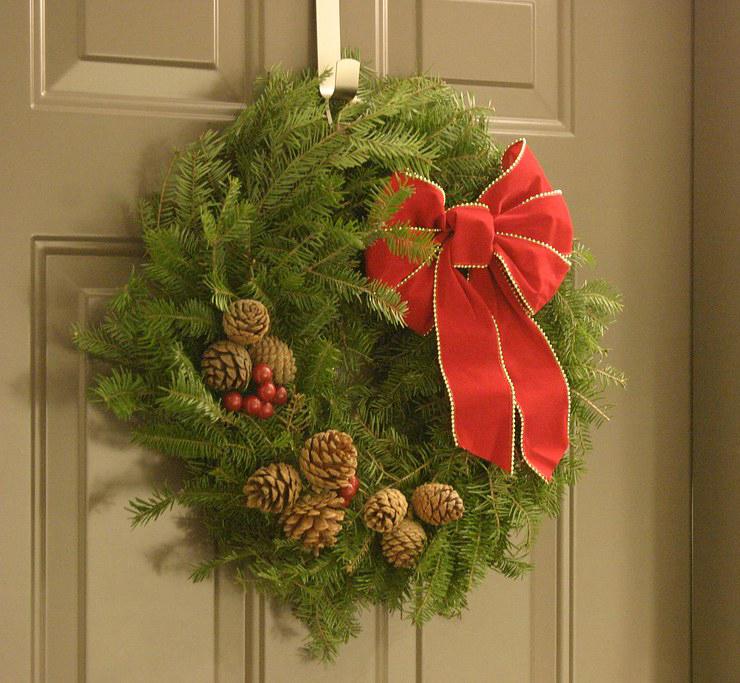 Natural Christmas Wreath Making