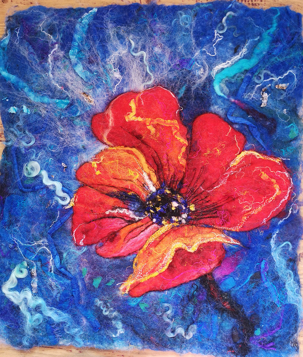 Felting: Painting with Wool for Beginners