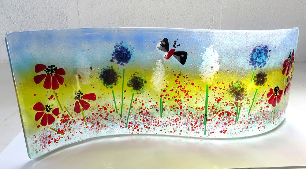 Make a fused glass wave