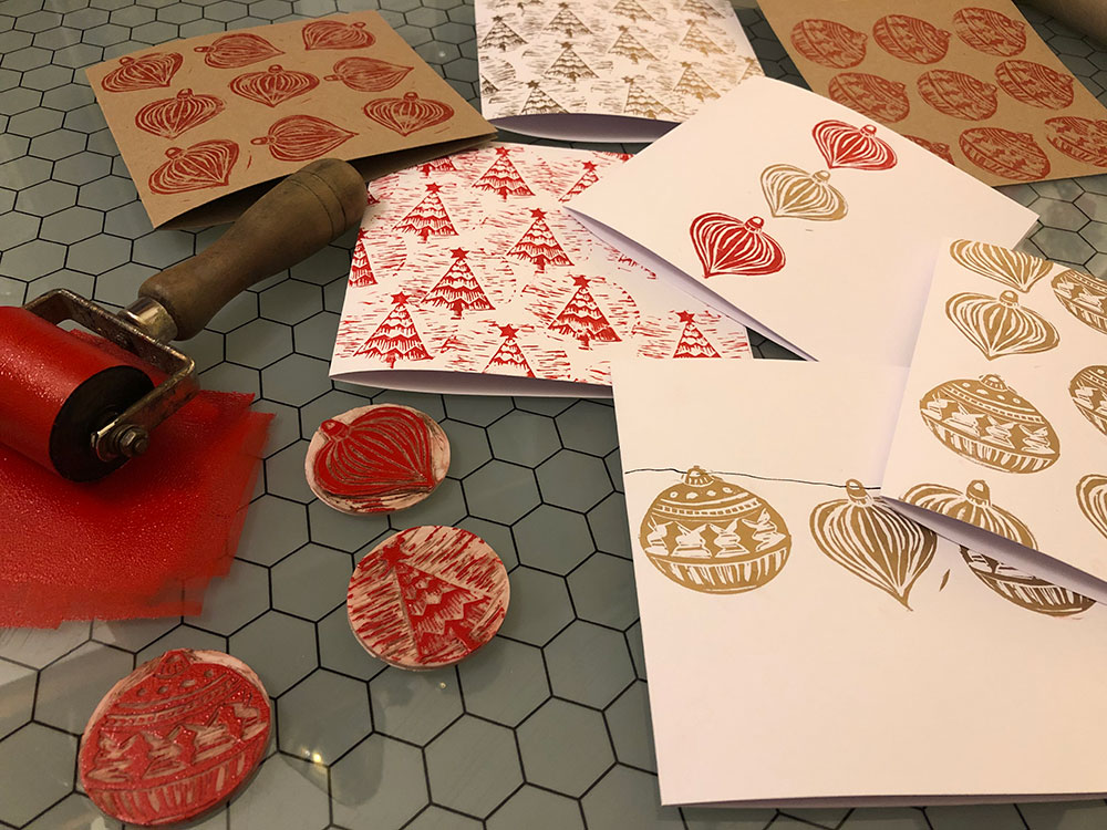 Christmas Lino Stamp Making with Liz Jones